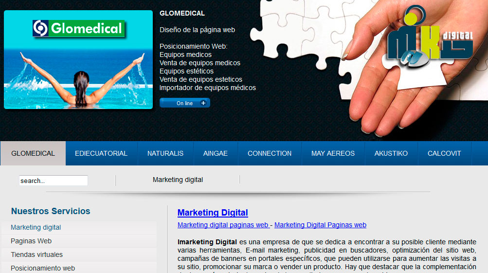 Marketing Digital web